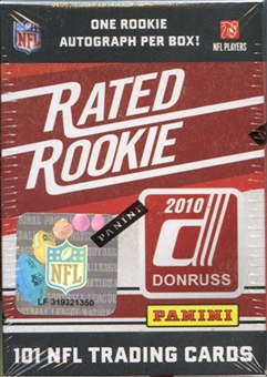 2010 Donruss Rated Rookie Football Hobby Box (Set)