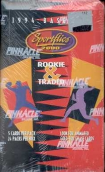 1994 Pinnacle Sportflics Traded & Rookies Baseball Hobby Box