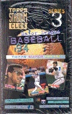 1994 Topps Stadium Club Series 3 Baseball Hobby Box