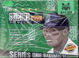 1994 Upper Deck Collector's Choice Series 1 Baseball Jumbo Box