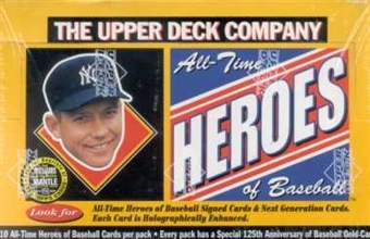 1994 Upper Deck All-Time Heroes Baseball Hobby Box