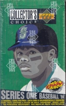 1994 Upper Deck Collector's Choice Series 1 Baseball Hobby Box