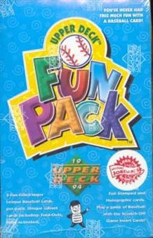 1994 Upper Deck Fun Pack Baseball Hobby Box
