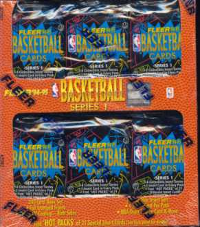 1994/95 Fleer Series 1 Basketball Jumbo Box