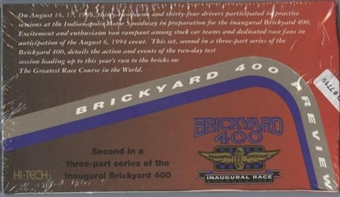 1994 Hi-Tech Brickyard 400 Preview Racing Box