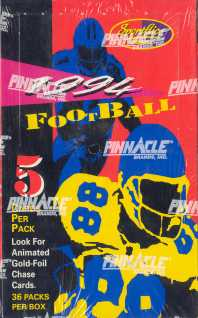 1994 Pinnacle Sportflics Football Hobby Box