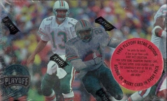 1994 Playoff Football Retail Box (Rice Inserts)