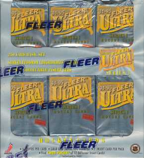 1994/95 Fleer Ultra Series 1 Hockey Jumbo Box
