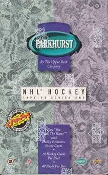 1994/95 Parkhurst Series 1 Hockey Hobby Box