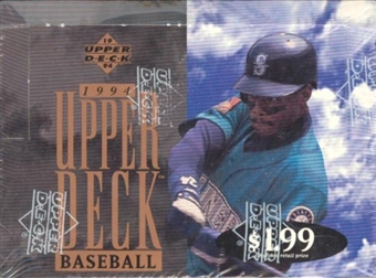 1994 Upper Deck Series 2 Baseball Jumbo Box