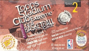 1995/96 Topps Stadium Club Series 2 Basketball Jumbo Box