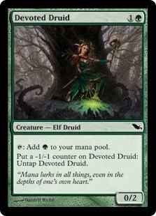 Magic the Gathering Shadowmoor Single Devoted Druid - NEAR MINT (NM)