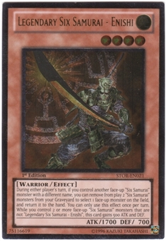 Yu-Gi-Oh Storm of Ragnarok Single Legendary Six Samurai - Enishi Ultimate Rare
