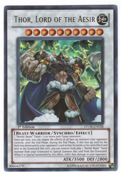 Yu-Gi-Oh Storm of Ragnarok Single Thor, Lord of the Aesir Ultra Rare