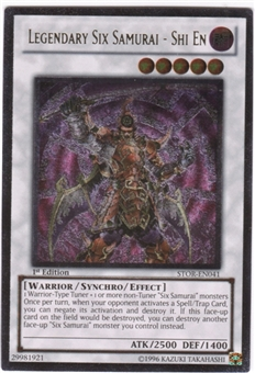 Yu-Gi-Oh Storm of Ragnarok Single Legendary Six Samurai - Shi En Ultimate Rare
