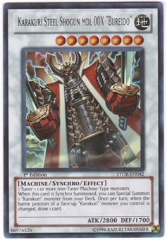 "Yu-Gi-Oh Storm of Ragnarok Single Karakuri Steel Shogun mdl 00X ""Bureido"" Ultra Rare"
