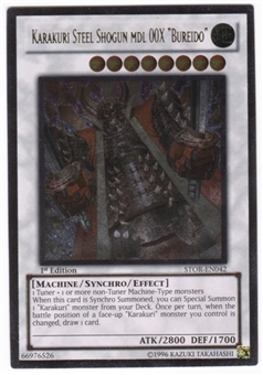 "Yu-Gi-Oh Storm of Ragnarok Single Karakuri Steel Shogun mdl 00X ""Bureido"" Ultimate"