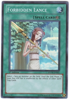 Yu-Gi-Oh Storm of Ragnarok Single Forbidden Lance Super Rare