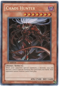 Yu-Gi-Oh Storm of Ragnarok Single Chaos Hunter Secret Rare