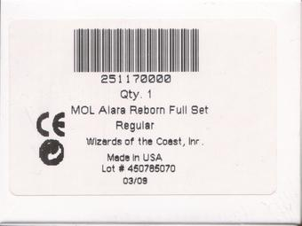 Magic the Gathering Alara Reborn A Complete Set FACTORY SEALED