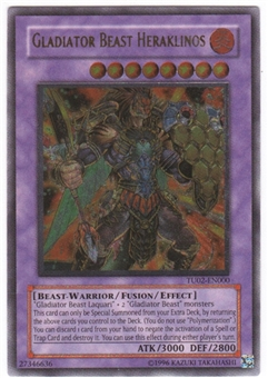Yu-Gi-Oh Turbo Pack 2 Single Gladiator Beast Heraklinos Ultimate Rare