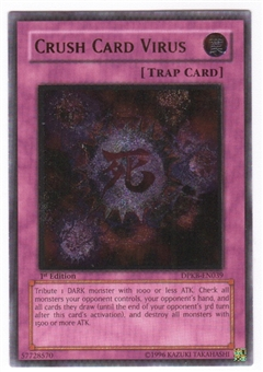 Yu-Gi-Oh Duelist Pack Kaiba Single Crush Card Virus Ultimate Rare - SLIGHT PLAY (SP)