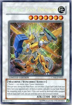 Yu-Gi-Oh Limited Edition Tin Single Power Tool Dragon Secret Rare CT06