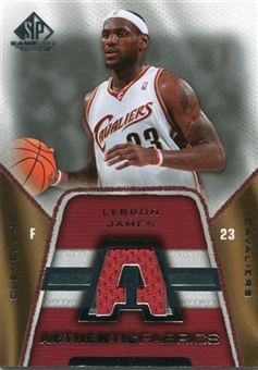 2007/08 Upper Deck SP Game Used Authentic Fabrics Jersey #AFLJ LeBron James