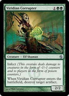 Magic the Gathering Mirrodin Besieged Single Viridian Corrupter UNPLAYED (NM/MT) 4x Lot