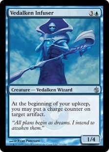 Magic the Gathering Mirrodin Besieged Single Vedalken Infuser 4x Lot - NEAR MINT (NM)