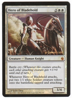 Magic the Gathering Mirrodin Besieged Single Hero of Bladehold Prerelease Foil