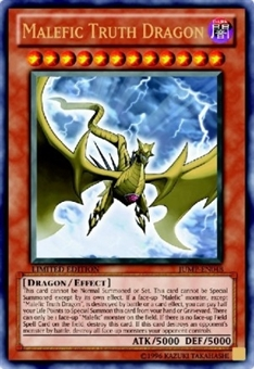 Yu-Gi-Oh Promo Single Malefic Truth Dragon Ultras Rare JUMP-EN048