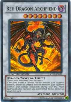 Yu-Gi-Oh Limited Edition Tin Single Red Dragon Archfiend Super Rare CT07