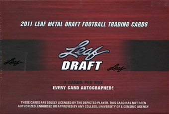 2011 Leaf Metal Draft Football Hobby Box