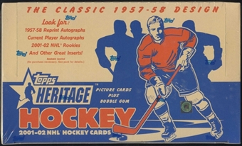 2001/02 Topps Heritage Hockey 24-Pack Box