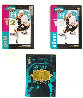 1995/96 Upper Deck Collector's Choice Hockey Crash the Game Silver and Gold Set plus Gretzky Inserts