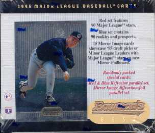 1995 Bowman's Best Baseball Retail 20 Pack Box