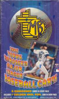 1995 Topps Embossed Baseball Hobby Box