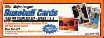 1995 Topps Baseball Hobby Factory Set (box) (White/Orange)