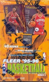 1995/96 Fleer Series 2 Basketball Hobby Box