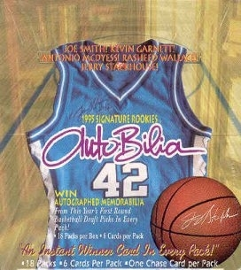 1995/96 Signature Rookies Autobilia Basketball Hobby Box
