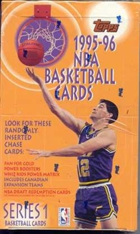 1995/96 Topps Series 1 Basketball Hobby Box