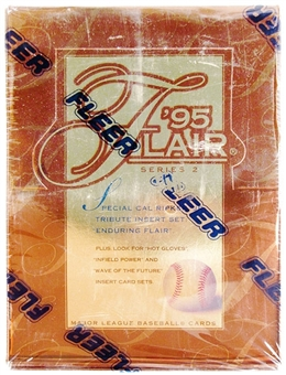 1995 Flair Series 2 Baseball Hobby Box