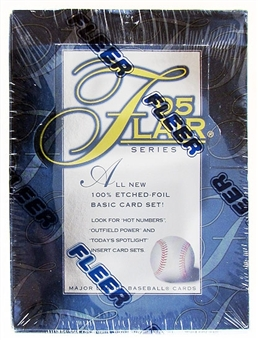 1995 Flair Series 1 Baseball Hobby Box
