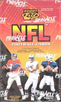 1995 Pinnacle Sportflics Football Hobby Box