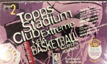 1995/96 Topps Stadium Club Series 2 Basketball 48-Pack Box