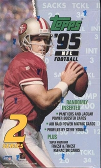 1995 Topps Series 2 Football 36 Pack Box