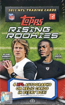 2011 Topps Rising Rookies Football Hobby Box