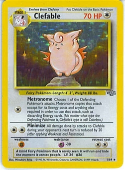 Pokemon Jungle Single Clefable 1/64 - Prerelease Promo