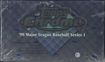 1998 Topps Chrome Series 1 Baseball 24-Pack Box